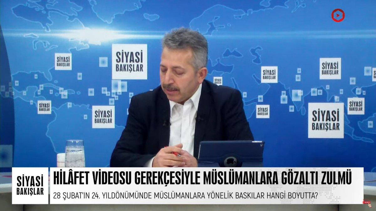 """#SiyasiBakışlar'da bu hafta; """"Hilâfet videosu gerekçesiyle Müslümanlara gözaltı zulmü"""" ile """"Merkez Bankası faiz kararı ve piyasalara etkisi"""" konuşuluyor.   CANLI ▶️   #Cuma #YenidenHilafet #HilafetİstemekSuçDeğildir #MüslümanBacılarGözaltında"""