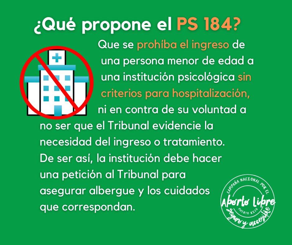 Y, ¿qué dice el #PS184 sobre el ingreso de menores a instituciones de salud mental para exponerles a #TerapiasDeConversión?  3/8