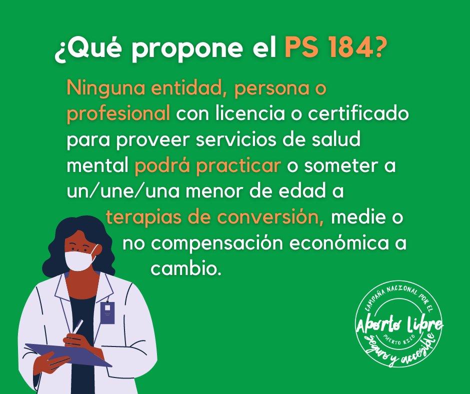 El #PS184 plantea una postura inequívoca sobre #TerapiasDeConversión a menores de edad: ¡NO es NO!  4/8