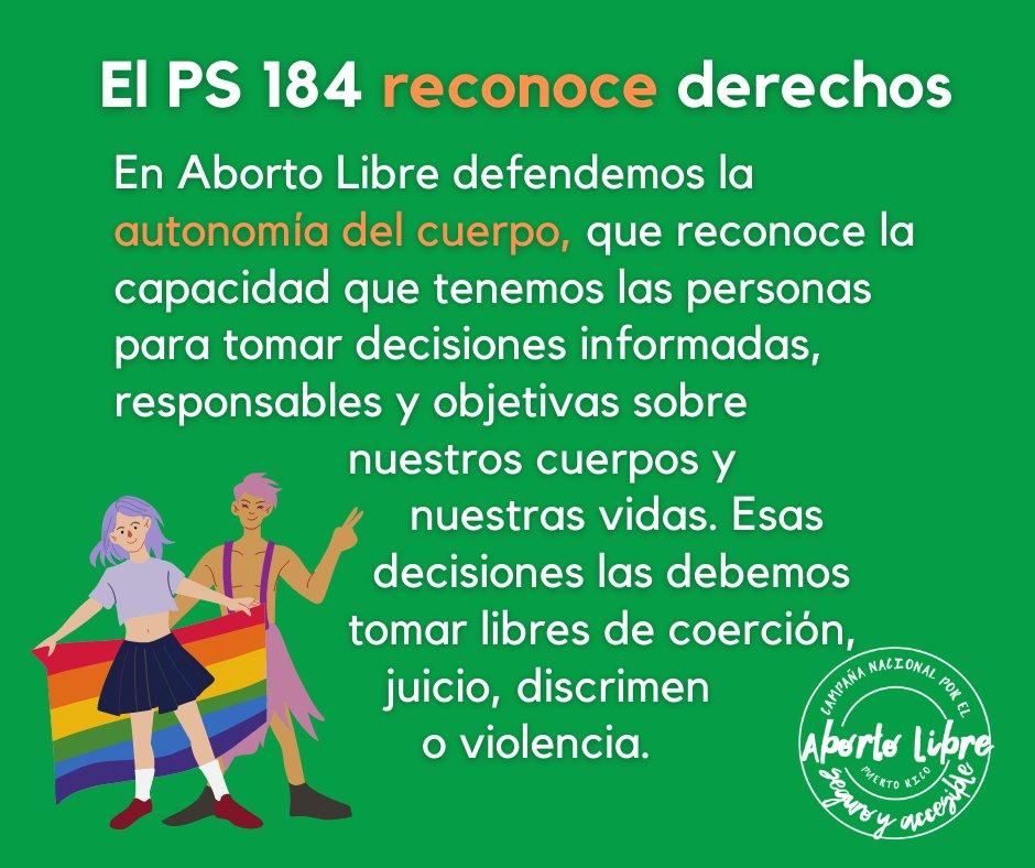 Apostamos a la solidaridad y acompañamiento, y luchamos por erradicar el discrimen y la exclusión.  Por eso apoyamos el #PS184.  5/8