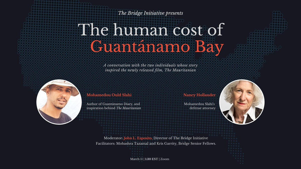 This March 11, Bridge invites you to join a conversation with Nancy Hollander and former Guantánamo detainee, Mohamedou Ould Salahi on the human cost of Guantánamo Bay.  Register: