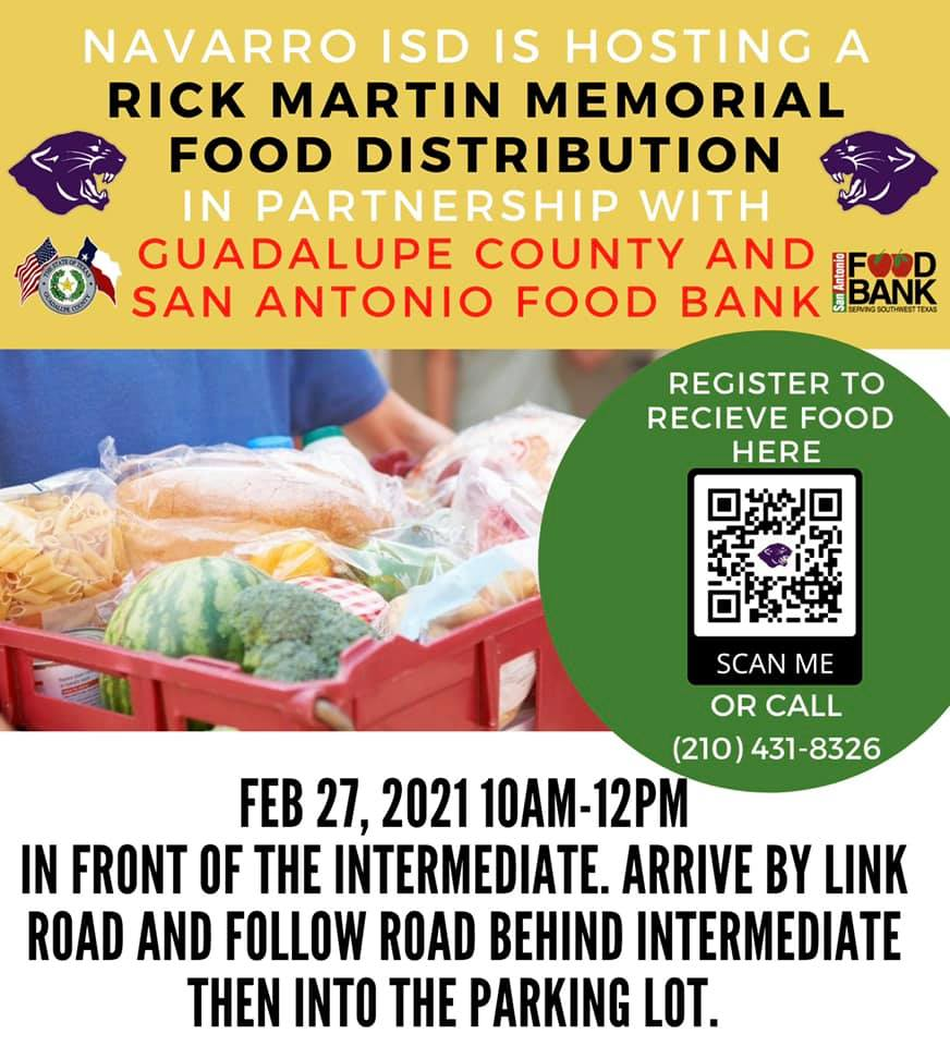 Replying to @RepGonzalez: Residents of Guadalupe County: please be aware of this @SAFoodBank happening tomorrow!