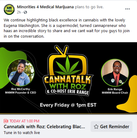 "Join @m4mmunited at 1p EST today, live on facebook, for ""Cannatalk With Roz."" #PositiveHempVibez #Sunjoined #Hemp #HempProducts #Cannabis #CBD #CBDProducts #CBDTinctures #Farming #health #medicine #wellness #OrganicLiving #SustainableLiving #COVID19 #StayHome #StayHomeSaveLives"