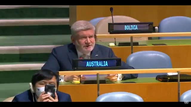 Australia is deeply concerned by the situation in #Myanmar.   Today at the 🇺🇳UN, Australia called upon the military to respect the rule of law & immediately release 🇦🇺Prof. Sean Turnell, Daw Aung San Suu Kyi, President U Win Myint & all others who have been arbitrarily detained.
