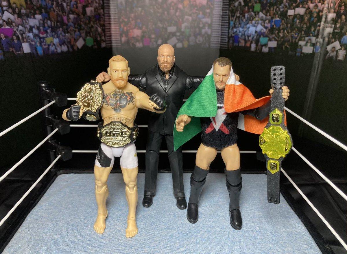 Triple H x @TheNotoriousMMA x Bálor https://t.co/L4nx1JVycW