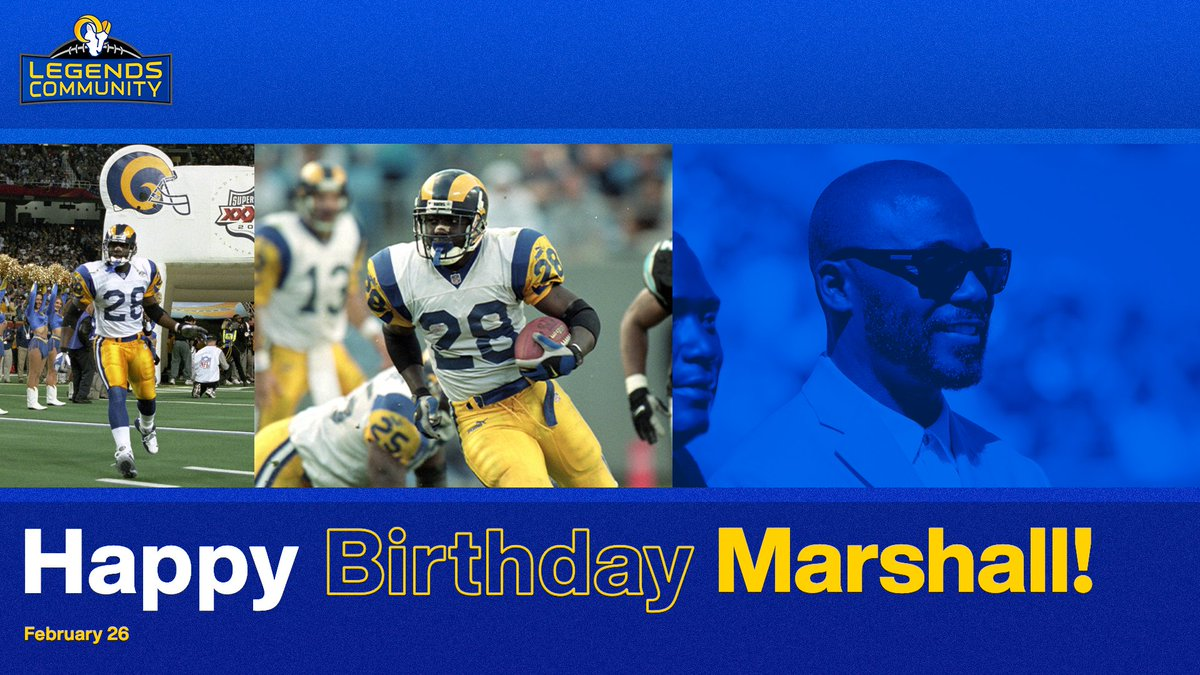 Happy birthday to one of the greatest RBs in franchise history!  Hope today is great, @marshallfaulk! 🎉