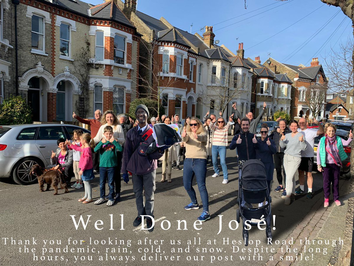The wonderful residents of Heslop Road have got in touch with me to say a big thank you to their local postie, José, who has been delivering their post with a smile throughout the pandemic. You can join in and say thank you to your local postie by tweeting #ThumbsUpForYourPostie