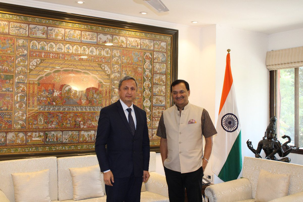DG #ICCR @DineshKPatnaik met H.E. Lukmon Bobokalonzoda, Ambassador of Tajikistan to discuss bilateral cooperation. @IndEmbDushanbe
