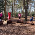The Year 1 key worker children took advantage of the sunny weather this week and played in the woods. Thank you to our House Parent Mr Lee for putting together the new fire circle! #copthorneprep #year1 #outdoorfun #sunny