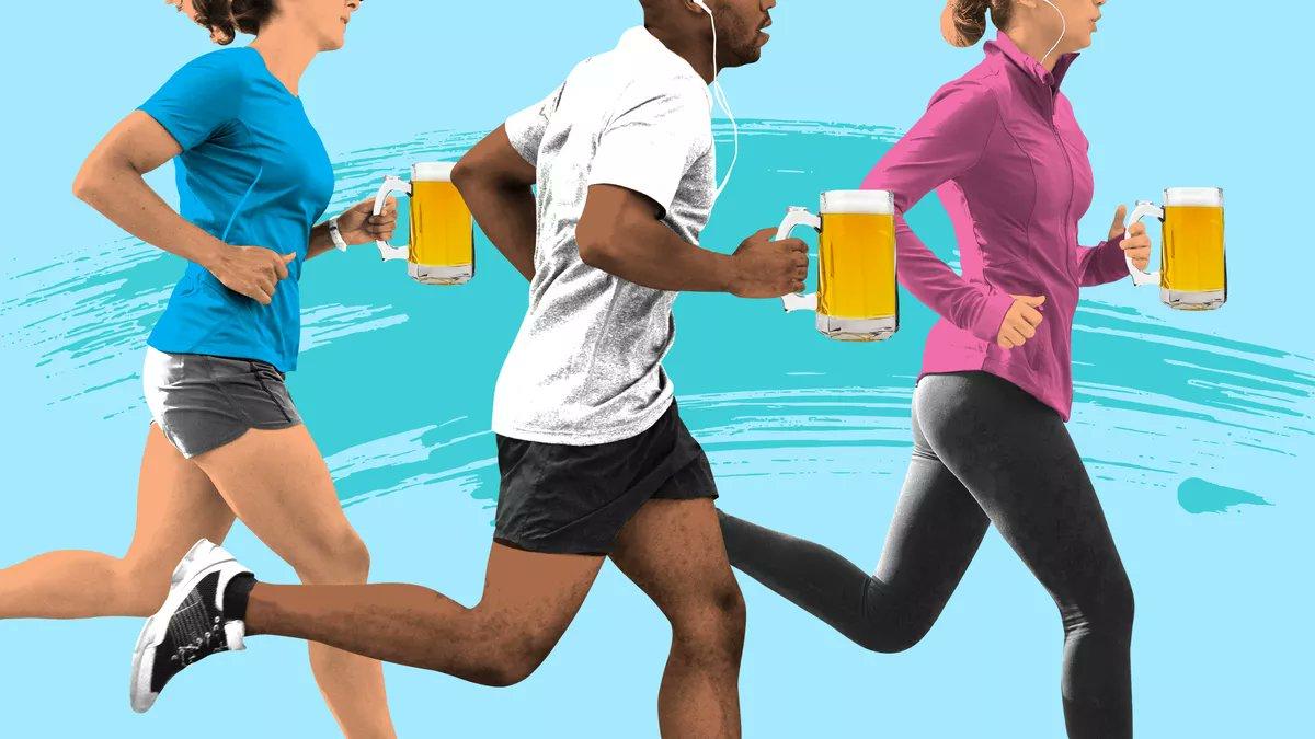 El consumo MODERADO de cerveza o alcohol NO afecta el efecto positivo de un entrenamiento HIIT. El estudio BEER-HIIT.  🙌🏼 El entrenamiento en intervalos de alta intensidad (HIIT) es un enfoque eficaz para mejorar la condición física.  1/🧵  #HIIT #beer #cerveza #alcohol #healthy