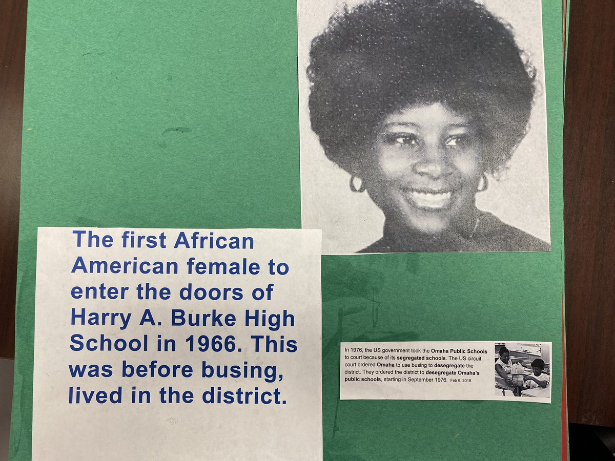 Did you know.... Saundra Harris, the first African American female student to enter the doors of Burke High School in 1966 currently supports our students as a paraprofessional working in our Special Education Department. She is a Burke Bulldog Alumni and Education Hero! #BHM2021