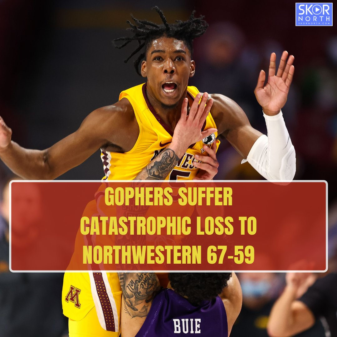 NORTHWESTERN HADN'T WON A GAME SINCE DECEMBER 26TH!!!  The #Gophers Tourney hopes are on life support.