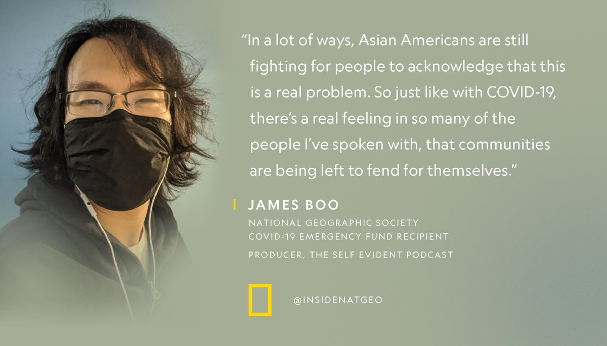 Audio producer and COVID-19 Emergency Fund recipient @ActualJamesBoo is working to tell the stories of Asian Americans through the podcast he co-created—@SelfEvidentShow. https://t.co/RtPw55Kv0e