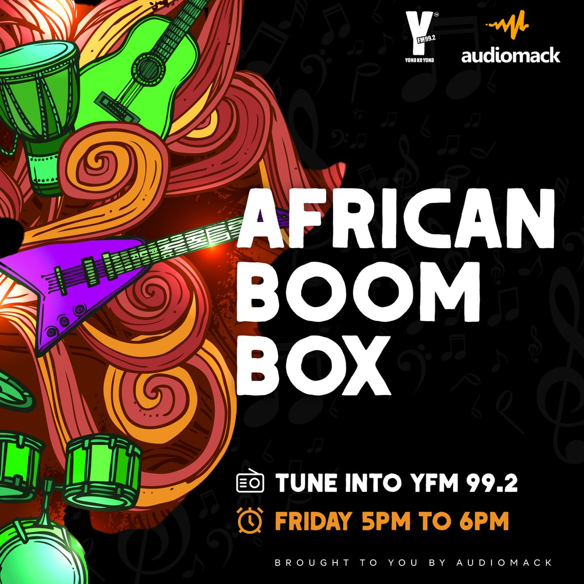 Every Friday on #TheBestDrive, we check out all new music and feature interviews of all our favourite African artists.   Don't miss African Boom Box every Friday from 5pm, brought to you by @audiomackafrica https://t.co/VOeZkb6mFb