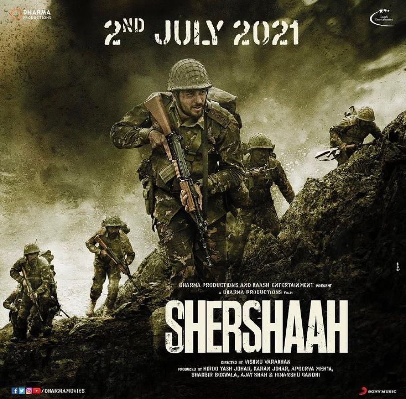 #Shershaah is finally releasing on 2nd July, 2021 in theatres. Watch me as 'Mona' in the film. #bollywoodnews #dharmamovies #kargilwar #vikrambatra #SidharthMalhotra #KiaraAdvani #karanjohar #bollywood