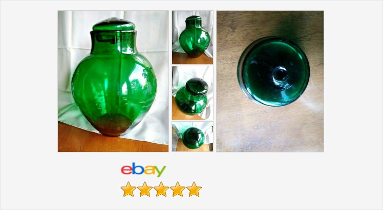 #Blenko Glass 7229 Ginger Jar John Nickerson 1970s Green Mint Mid Century Modern | eBay #blenko #midcenturymodern #artglass #usa #glasslover #sundaymorning