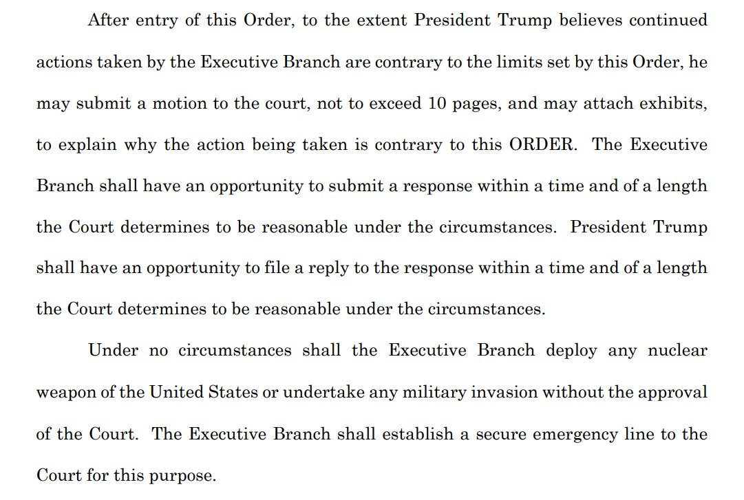 So now, in the name of preserving our system of government, a lawyer in Texas is asking a court to order the Biden administration to follow all of Trump's policies and give Trump the power to weigh in if he thinks they're not doing it.