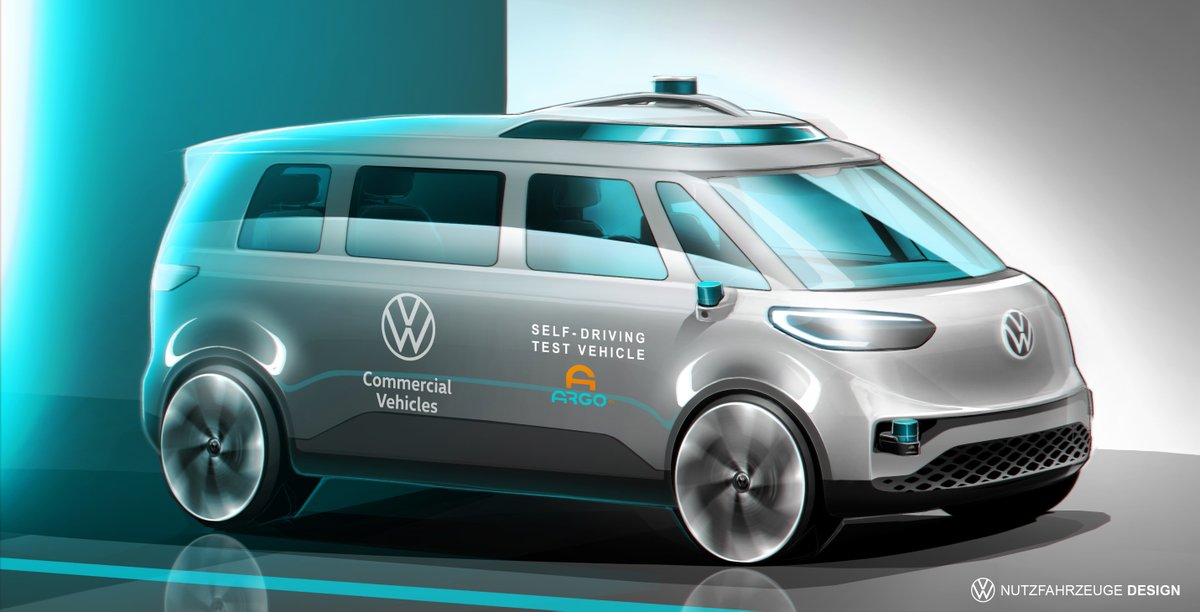 We look forward to continuing working with @VWCV_official to integrate our self-driving system with the all-electric #IDBUZZ