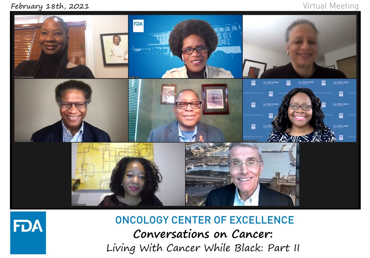 OCEs 2/18 Conversation on Cancer: Living with Cancer While Black was a great dialogue on ways to increase cancer trial diversity. Thank you to panelists Dr Lori Pierce @ASCO Dr Lori Wilson @HowardU Dr Robert Winn @VCUMassey Dr Nadine Barrett @Duke_FamMed and @MelDMann!