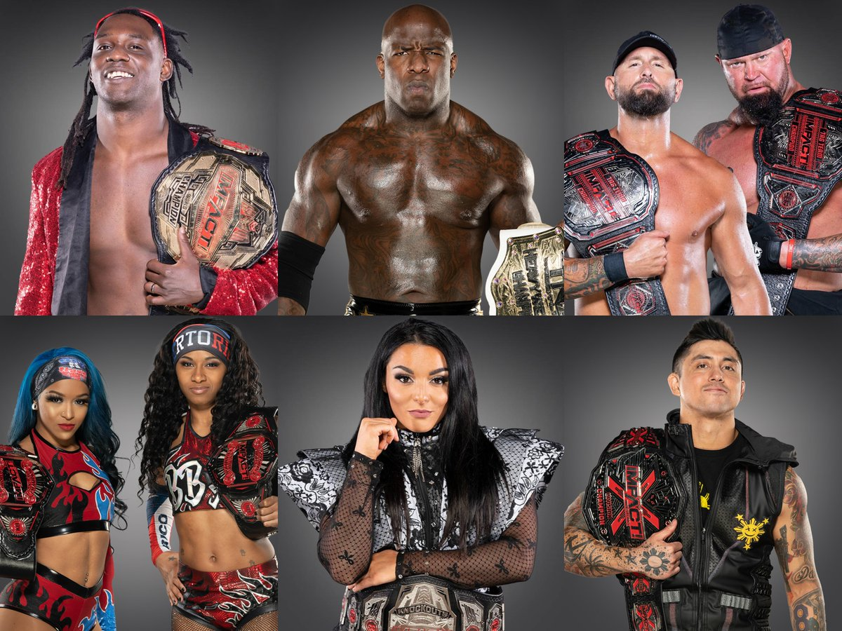 The champions of IMPACT Wrestling.