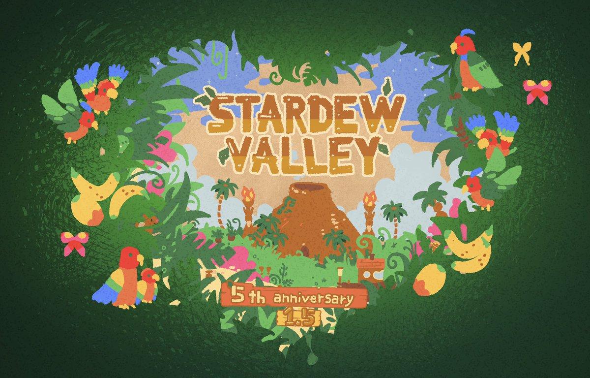 Replying to @chixistvl: 🌴StardewValley 5th anniversary🌴 #StardewValley