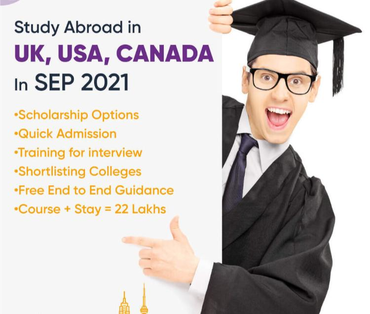 Study in Canada - Scholarships Available..  Fill in your details Now!