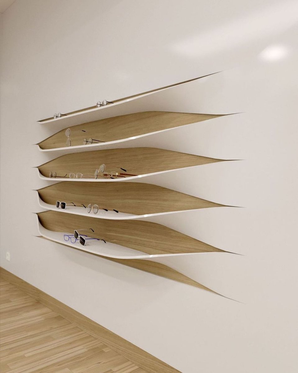 What do you think about this wall? Share your thoughts in the comments! You might need some tiny bendings on your wall to put  decorative stuff! Here's an amazing wall shelf designed by Portuguese furniture and interior designer Rui Silva.  Via: DesignWanted   #wall #walls #decor