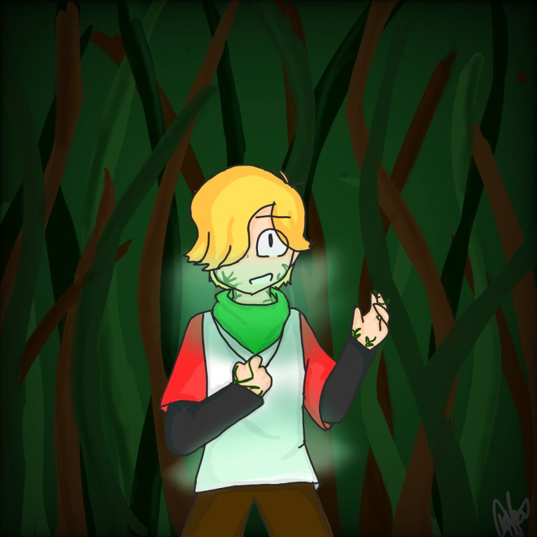 Hello people!  This time I bring you this drawing that I made based on an AU that I invented!  and for that I will have to put a lot of text, so I open the thread #dreamsmp #dreamsmpfanart #TOMMYINNIT #tommyinnitfanart