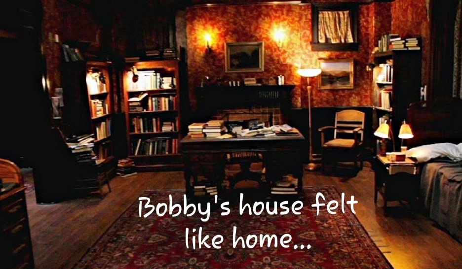 The #Supernatural set I have always loved the most: Bobby's House. It was cozy, comforting and felt like home.   Follow for more thought-provoking #spn content.   #Supernatural #SPNFamiIy #bobbysinger #jimbeaver #JaredPadalecki #JensenAckles #mishacollins