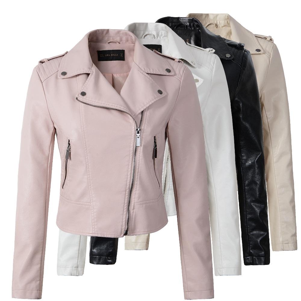 #model #cool Women's Leather Biker Jacket