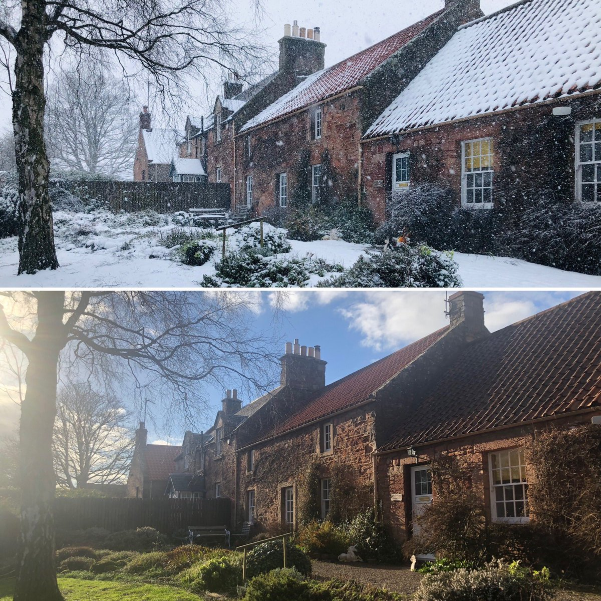 The difference a few days can make! ☃️☀️ #eastlothian #tyninghame #snow #sun