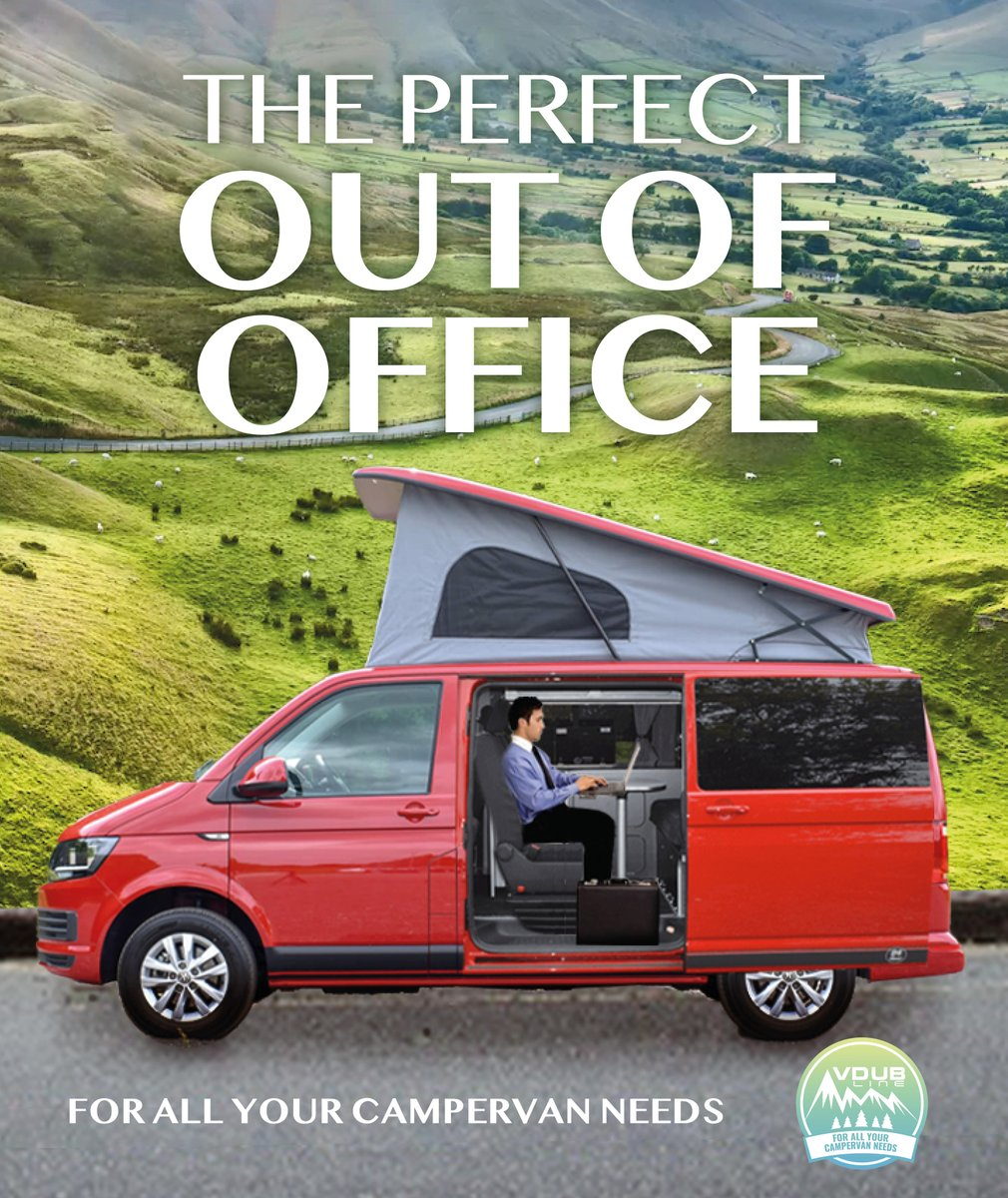 The perfect Out of Office #creative #advertising #officelife #staycation #campervanlife #OutofOffice  @OneMinuteBriefs of the Day:  Create posters to advertise @Vdubline #Campervans.