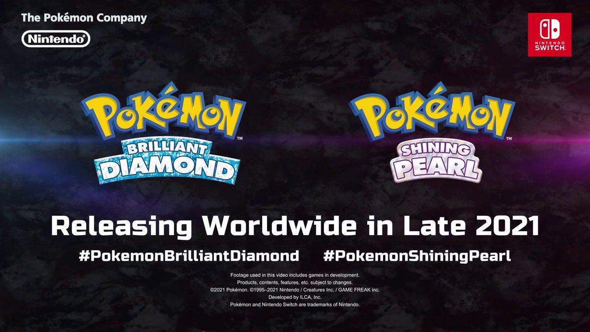 Sinnoh.   Remakes.  Confirmed.  #PokemonBrilliantDiamond #PokemonShiningPearl