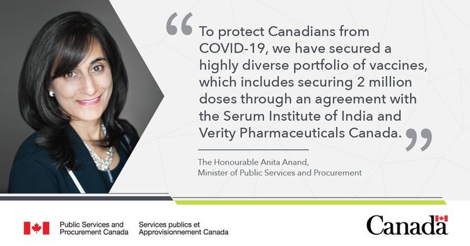 Canada to receive 2 million doses of AstraZenecas COVID-19 vaccine manufactured by the Serum Institute of India Photo