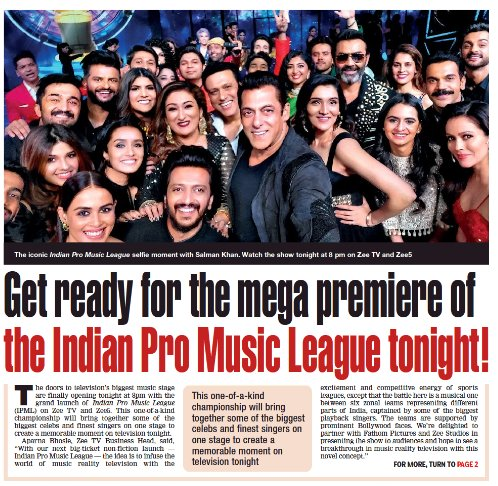 Are you guys ready? The mega star #SalmanKhan is the ambassador, which makes this show huge. @BeingSalmanKhan Watch IPML tonight 8 PM on @ZeeTV IPML PREMIER WITH SALMAN #IPML #IPMLonZeeTV #Mumbai