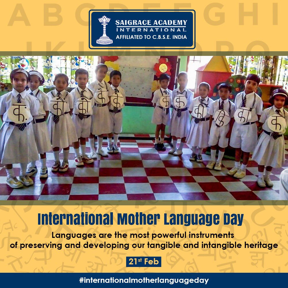 Mother Language Day, let's celebrate the power of linguistic diversity & multilingualism.  Website:  . . . #saigrace #boardingschool #saigracian #moderngurukul #bestcbseboardingschool #internationalmotherlanguageday #indigenouslanguages #motherlanguageday