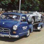 Image for the Tweet beginning: The #Mercedes 300SLR #racing #transporter