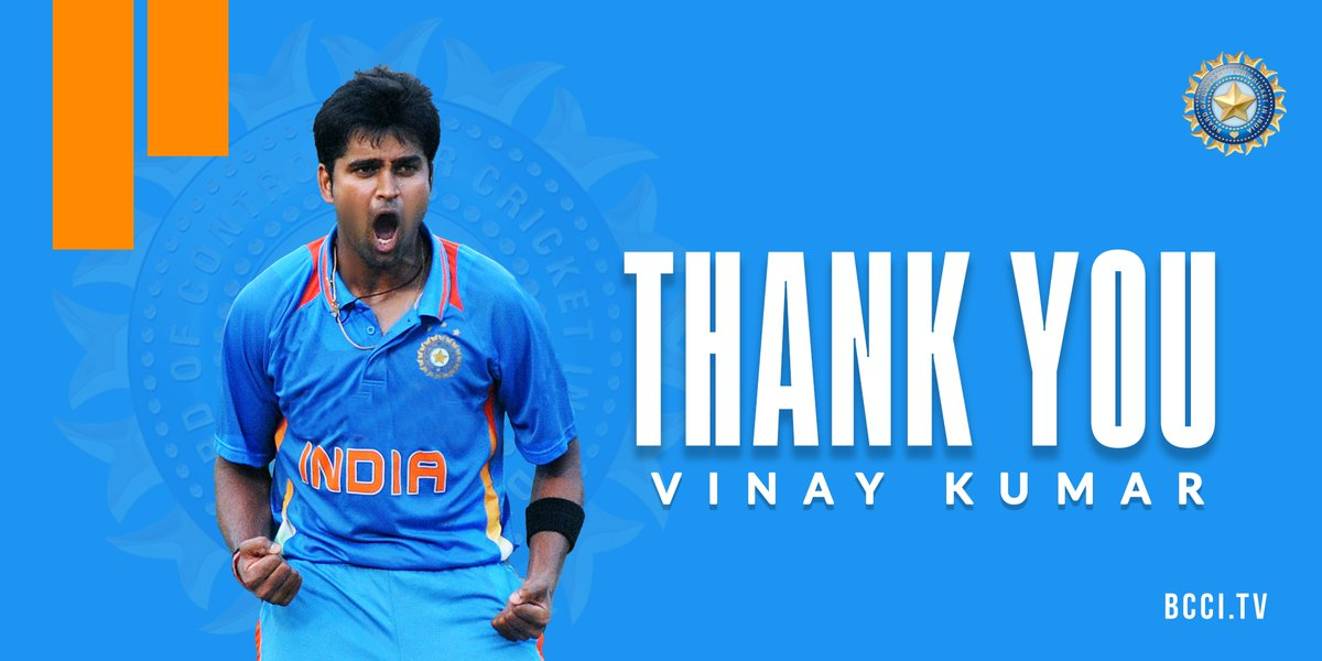 Replying to @BCCI: All the very best @Vinay_Kumar_R for the life after retirement. Go well. 👏👏