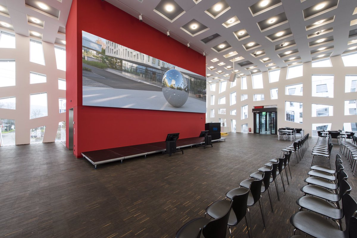 We create clever Security Auditorium #conference workplaces with das ligth #Intelliscreen #askus solutions for #proav #company #Convention #board #SmartCity #cybersecurity #airport #futureworkspace #network #monitoring #Military #fireforce #cloud #collaboration #AI #iptv #data