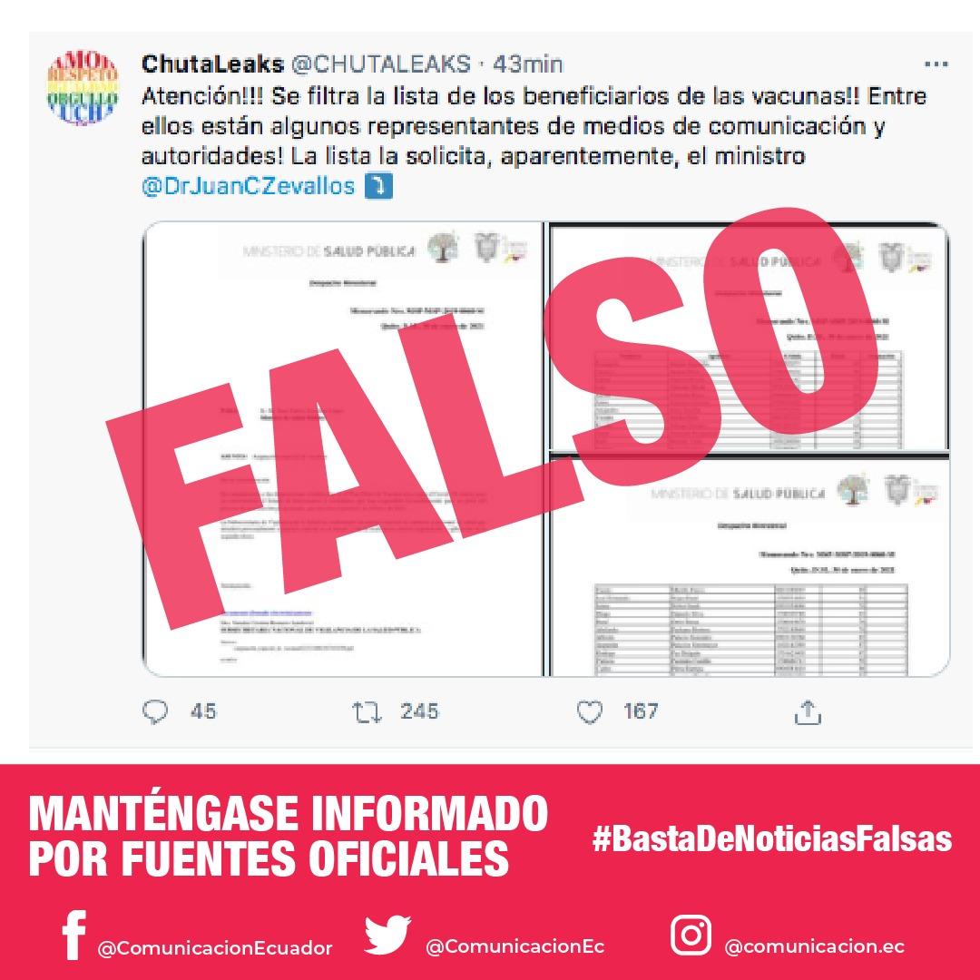 @SevillaRoque @ivannazau @javier_bosquez @longogalo Fuente oficial corrobora que la lista #VacunasVip es falsa. https://t.co/MUBTO45ApP