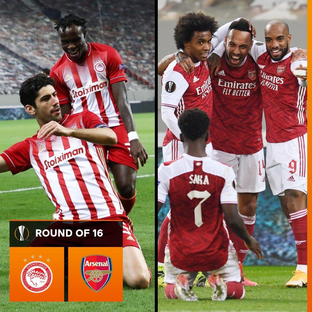 🇬🇷 Olympiacos vs Arsenal 🏴  Predictions? 👇  #UELdraw https://t.co/Xmv1KUqoBS