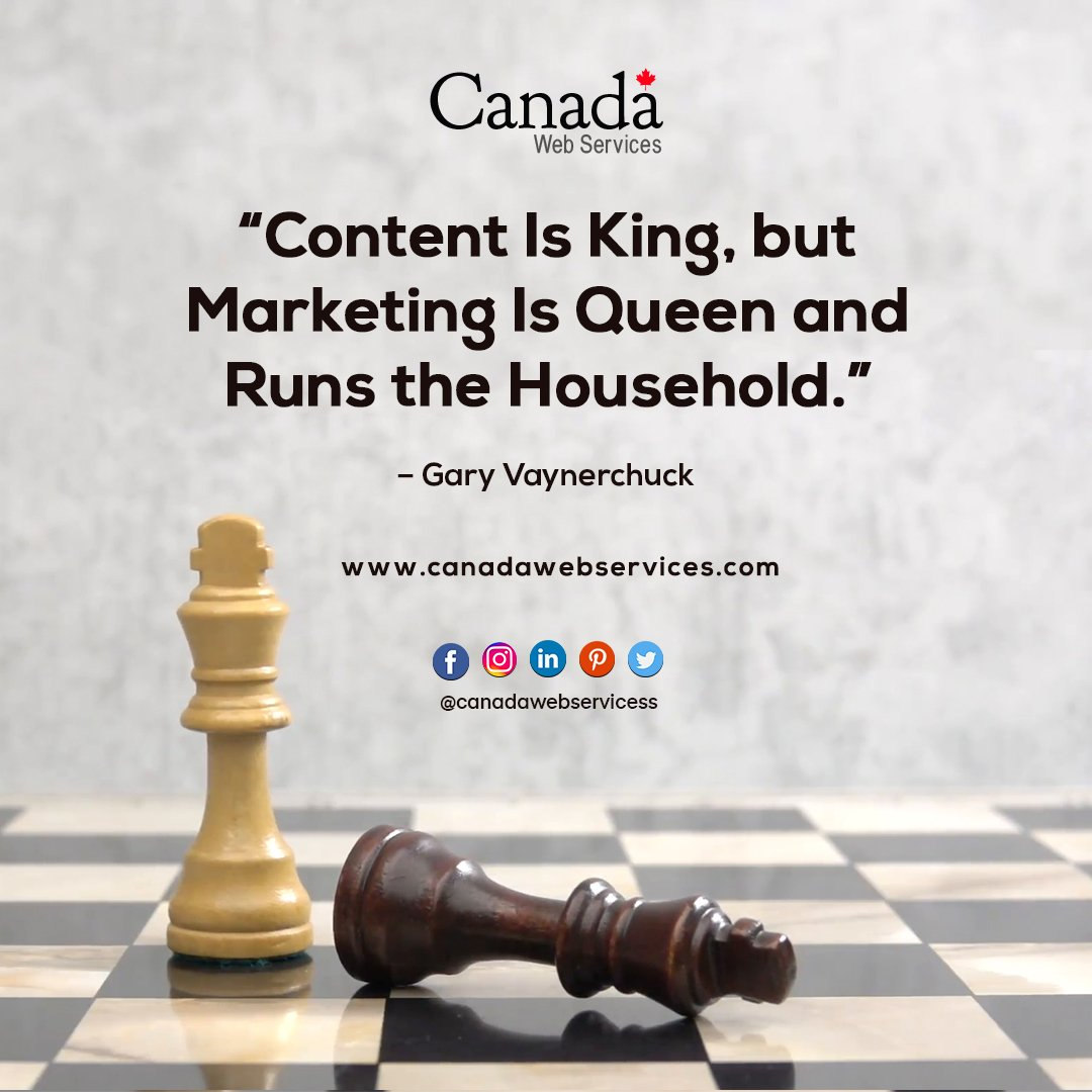 """""""Content Is King, but Marketing Is Queen and Runs the Household.""""  – Gary Vaynerchuck #FridayFeeling #FridayMotivation #fridaymorning #showreelshareday #marketingquotes  #onlinemarketing"""