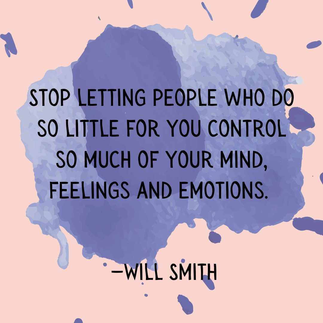 Why do we do this? 🤔We let people rent space in our heads. I challenge you to push past those people that cause you pain, and #ChooseYou! 💪 #HopeIncStories #FantasticFriday #WillSmith #Quotes #Inspiration #Recovery #Boundaries #SelfCare