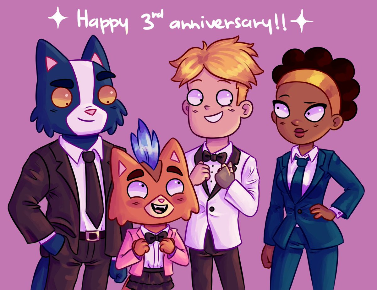 HAPPY 3RD ANNIVERSARY FINAL SPACE! Was this just an excuse to draw them wearing suits? Yes it was #FinalSpace