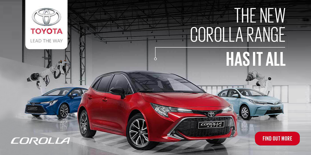 Drive your obsession in the new @ToyotaSA Corolla and engage all your senses while you jam to #YTKO.  The Corolla Hatch is the epitome of style that delivers a remarkable drive and absolute comfort. Find out more here: https://t.co/UoroARyqHG https://t.co/nnBcICfuGk