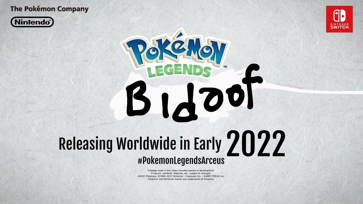Pokemon Legends Bidoof > Pokemon Legends Arceus #Pokemon25 #PokemonPresents #Pokemonlegends