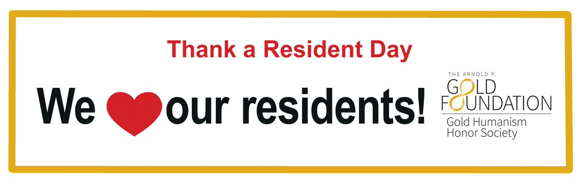 Thank you to all the hard-working residents out there! Working with you is one of the most gratifying, inspiring, joyful parts of my career. I hope today your co-residents, faculty, staff, friends, & family give you some well-deserved appreciation and love! #ThankaResidentDay