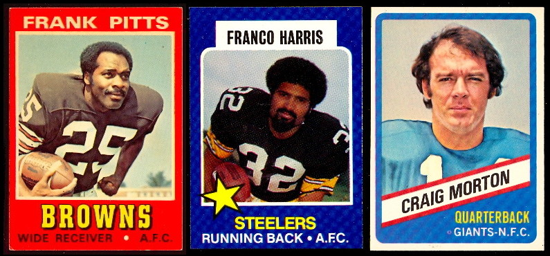 1974 (pack fresh), 1975, and 1976 Topps Wonder Bread football cards! Just added many cards to the website! #topps #football #footballcards #NFL #Cowboys #Steelers #Raiders #49ers #EaglesTwitter #Dolphins #Washington #Jets #ChiefsKingdom #Rams #Vikings  ⏩