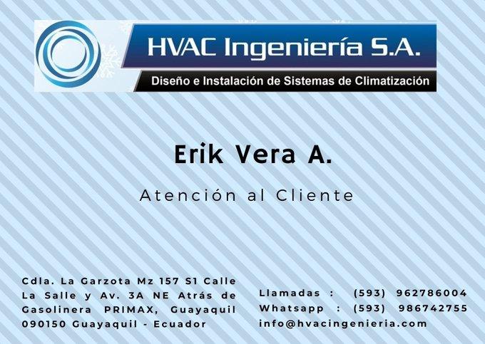 @hvacingenieria1 soluciones de #climatización #Ecuador #Guayaquil #Quito #Manta #Cuenca #Portoviejo #Emelec #Guayas #Oquendo #Yaku  #Ecu #Joker #Lasso #LigadeQuito llamadas 0962786004 whatsapp 0986742755  #Gye #barcelonasc #Eu #Arauz #Trump #Tania info@hvacingenieria.com