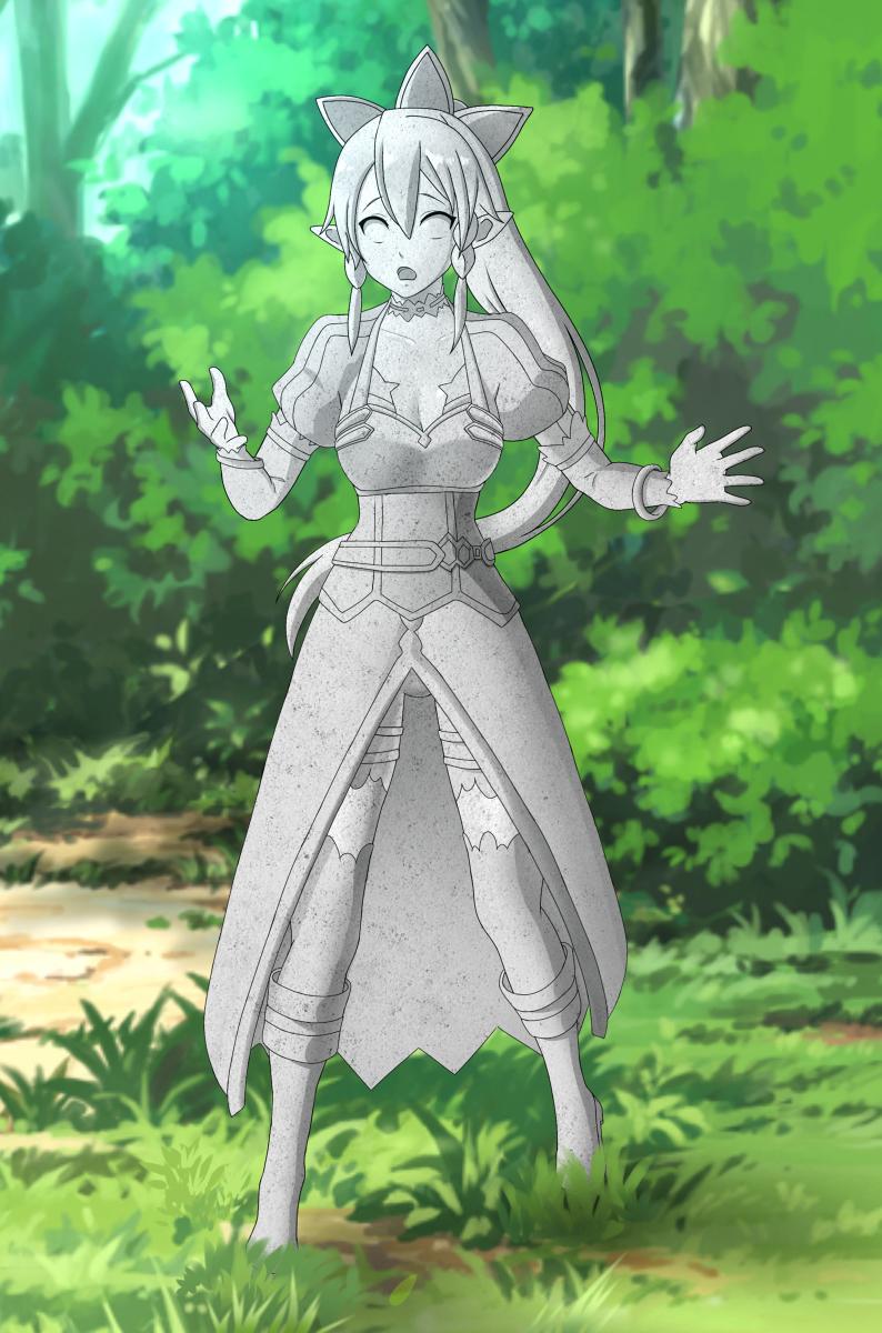 [R-18] Petrification - Leafa (SAO) #リーファ(SAO) #固め #petrification #彫像 #statue #ソードアート・オンライン #SwordArtOnline #Leafa